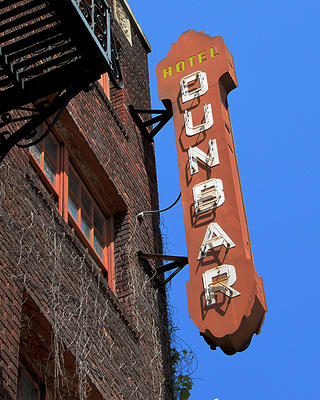 The iconic Dunbar Hotel sign