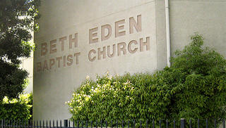 The exterior of the Beth Eden Baptist Church.