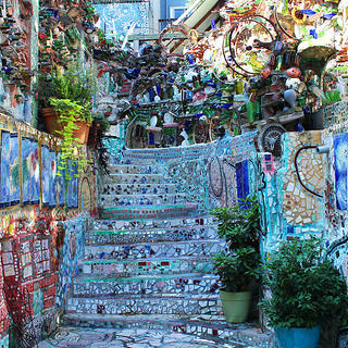 The first level of Philadelphia's Magic Gardens.