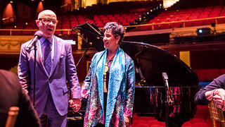 Darren Walker and Phylicia Rashad during the 2019 Action Fund summit.