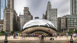 "The cloudgate or ""bean"" is one of the most photographed spots inside Millennium Park."