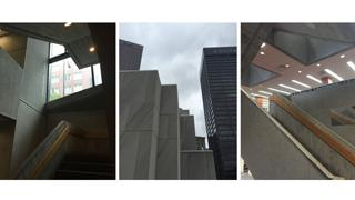 Three views of the Atlanta-Fulton Central Library.