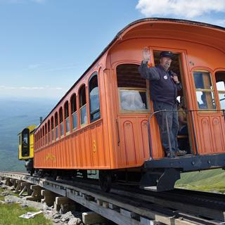 A ride along the Mount Washington Cog Railway in New Hampshire.