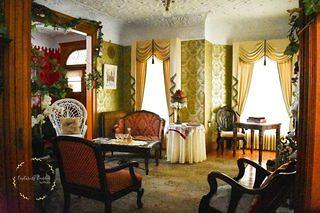 One of the rooms inside the Edwards Swayze house in Nevada, Iowa.