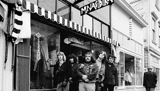 The Grateful Dead in front of Mnasidika, Haight-Ashbury, San Francisco, California