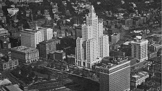 A 1928 aerial view of the Industrial Trust Company Building.