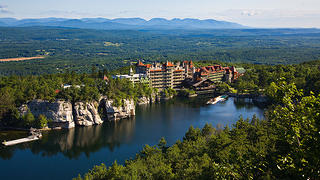 A shot of Mohonk from a distance.