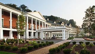 The exterior of Omni Bedford Springs.