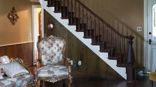 The staircase and entry in the Steele Mansion.