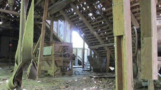 The damage inside the Trovinger mill.