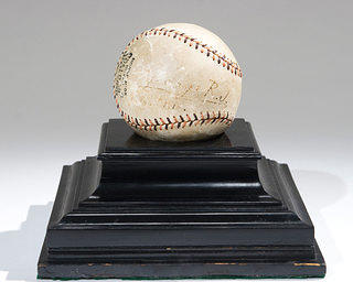 President Woodrow Wilson House - George V baseball artifact