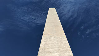 The pyramidion of the Washington Monument.