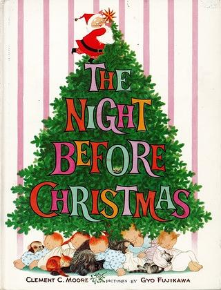 1961 edition of the Night Before Christmas by Clement Clarke More with illustrations by Gyo Fujikawa