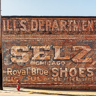 JP Mills Selz Shoes Sign
