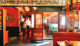 The trolley car at the Formosa Cafe.