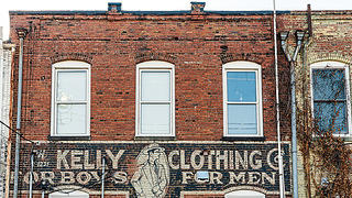 Kelly Clothing Ghost Sign