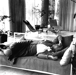 Edith Farnsworth in her home Farnsworth House c 1955.