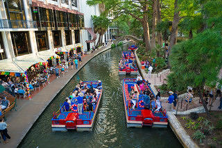 San Antonio River Walk During Fiesta in 2014