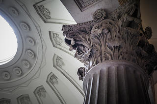 A look at the architectural detail at Federal Hall in Philadelphia, Pennsylvania.