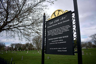 Signage in front of God's Little Acre, a grantee of the African American Cultural Heritage Action Fund.