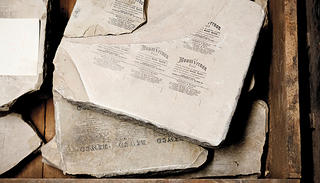 Lithographic stones from the A. Hoen factory.