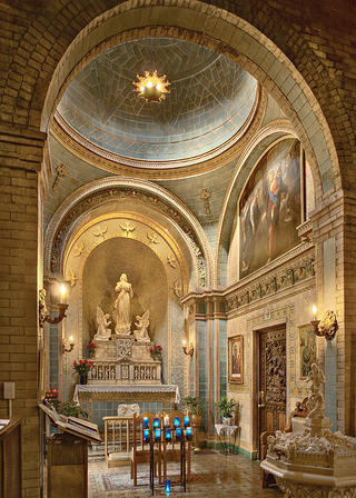 Guastavino tile at the Basilica of Saint Lawrence.