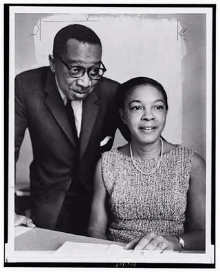 Photograph of Dr. Kenneth Clark and Dr. Mamie Phipps Clark