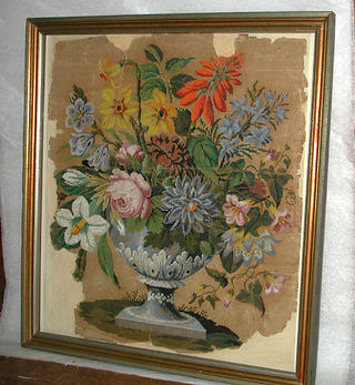 Firescreen painted pattern. Nelly Parke Custis Lewis, approximately 1820