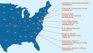 Brown v Board of Education Map