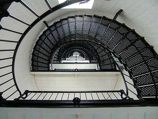 View of the staircases on the interior of St. Augustine Light Station