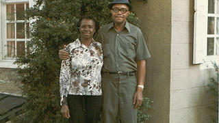 Elmira Saunders and her husband Russell. Elmira was one of the staff of Cliveden in the 20th century.
