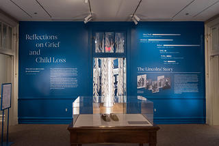 Views from the exhibit Reflections on Grief and Child Loss  at President Lincoln's Cottage