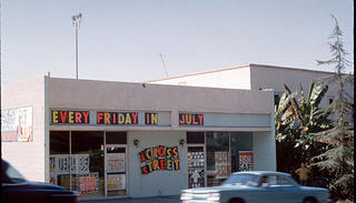 An exterior photo of Corita's studio from the 1960s.