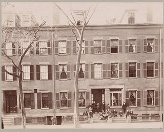 Exterior of the Denison Settlement House in Boston, Massachusetts.