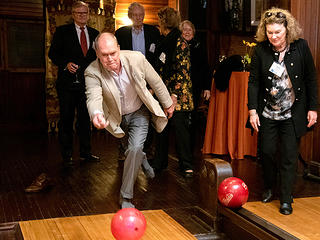 Bowling at Lyndhurst during a National Trust Council event.